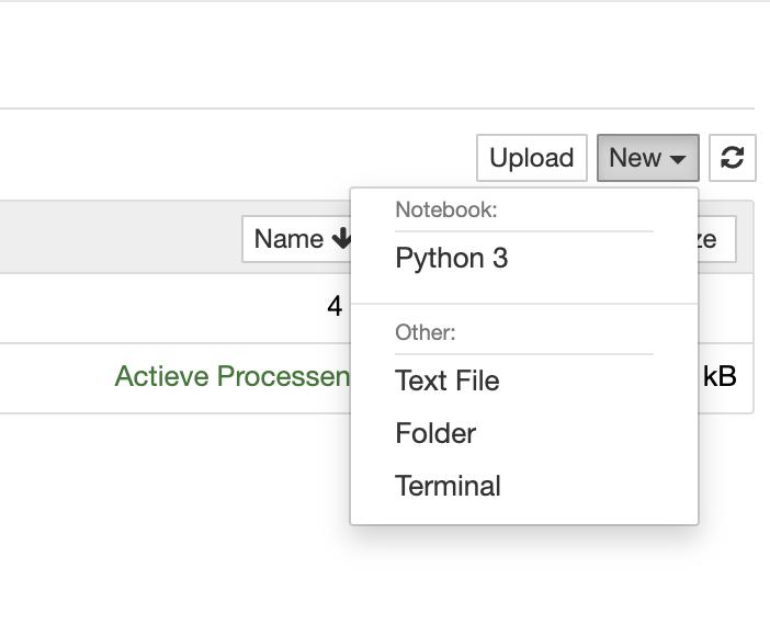 jupyter new file python3